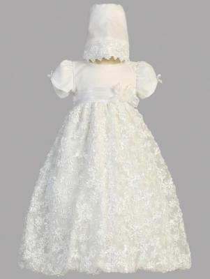AMBER White Christening Gown Dress 0-3m 3-6m 6-12m 12-18