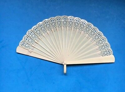 Antique 19Th  Chinese Canton Hand Carved Brise  Fan