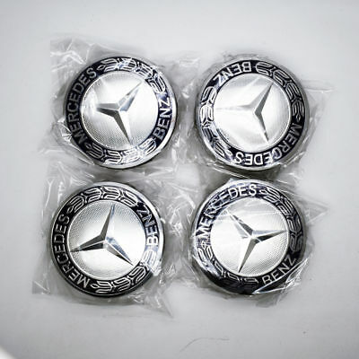 4pcs/Set 75mm Wheel Emblem Hub Center Caps Laurel Wreath For Mercedes-Benz