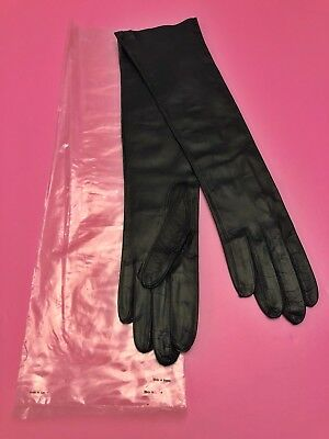 Vintage Kid Leather Womens Gloves Size 6 1/2 - Made In Greece - New!