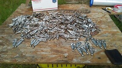 VINTAGE EXCELSIOR HINGES CHROME ALMOST 300 PIECES..3 AND 4 INCHfor 10 bucks wow