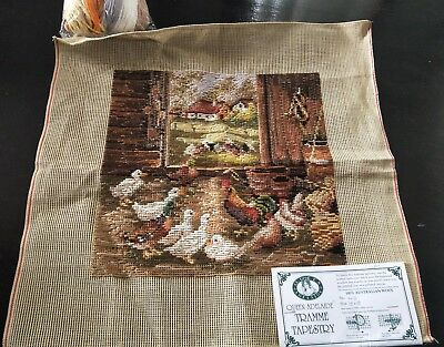 BRAND NEW QUEEN ADELAIDE Trammed TAPESTRY CANVAS & WOOL No. N10