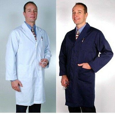 Lab Coat NEW White or Navy blue (All sizes) Lab Coats. Also ELASTIC CUFF style.