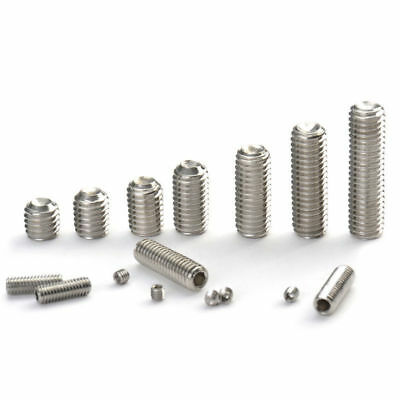 M4 M5 M6 M8 Stainless Steel Grub Screws Allen Socket Set Screw Cup Point DIN916