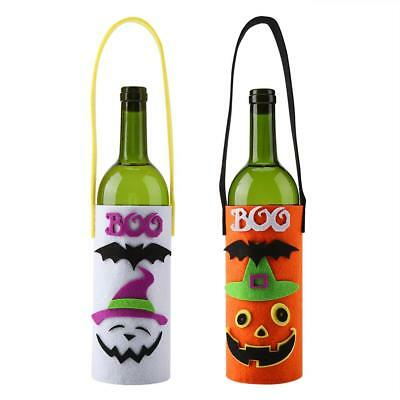 Pumpkin Ghost Halloween Wine Bottle Cover Clothes Holder Home Table Decorations
