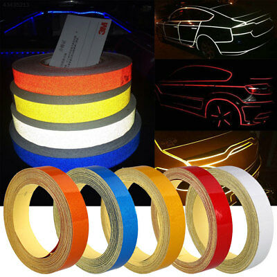 3AC8 Car Truck Reflective Strip Night Safety Warning Tape Sticker DIY 1CMx5M