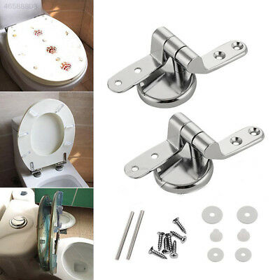 74F6 Replacement Pair of Home Toilet Seat Hinges Include Fittings Fixings DIY