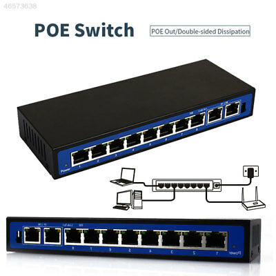 8E24 5C7A A2B5 Poe Network Switches POE Ethernet Switch POE Switch Office Home