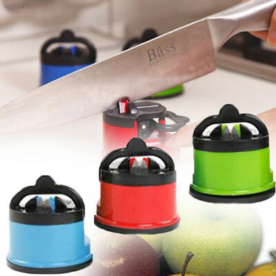D481 Sharpener Grind Stone Blades Sharpening Kitchen Tool Gadget With Suction