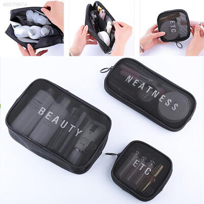 4766 Travel Mesh Storage Bag Pouch Toiletry Makeup Cosmetic Organizer Holder