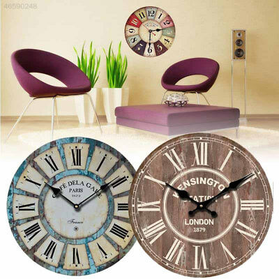 27F2 Vintage Wall Clocks Quartz Clock Round Mute Hanging Decor Ornaments 12CM
