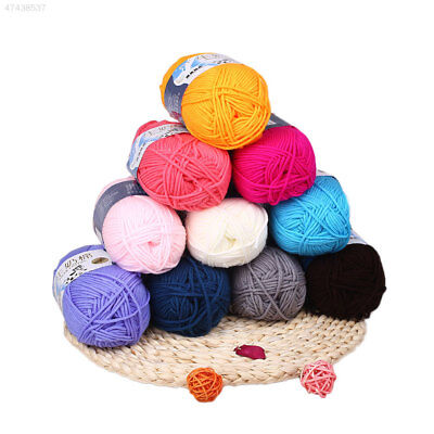 612A 1Ball 50g 6Color Hand knitted Milk Cotton Weave Thread Durable Good Fold