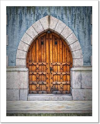 Wooden Archway Doors Art Print Home Decor Wall Art Poster - J
