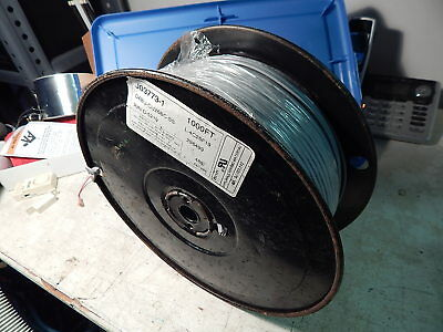 1000ft Spool Flat Telephone Line Wire Cable Cord 4 Cond. Stranded 26 AWG Silver