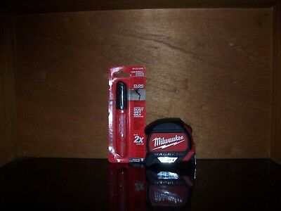 Milwaukee 48-22-7125 25 FT Magnetic Tape  and Marker COMBO
