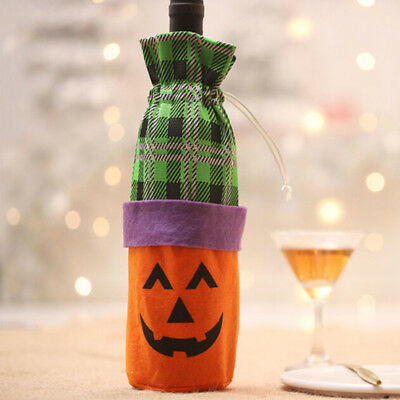 Pumpkin /Cat /Witch Bottle Set Creative Wine Bottle Bag Halloween Decoration AT