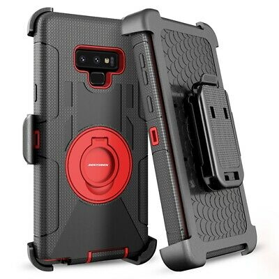 For Samsung Galaxy Note 9 S9 Plus Rugged Armor Case Belt Clip Holster Kickstand