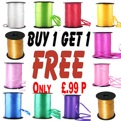 Balloon Curling Ribbon 50 Metres BUY 1 ROLL GET 1 FREE 50m Xmas Party Wrapping