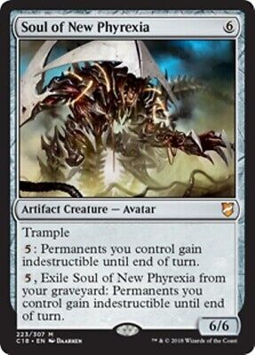 SOUL OF NEW PHYREXIA Commander 2018 MTG Artifact Creature — Avatar Mythic