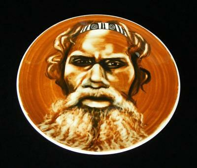 Vintage Signed Martin Boyd Australian Pottery Aboriginal Wall Plate 26.5Cm