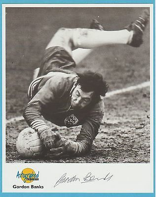 Gordon Banks official hand-signed westminster card 10x8 - World cup 1966 Keeper