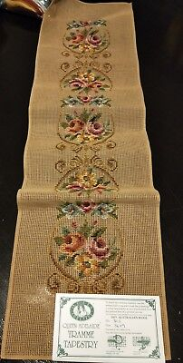 BRAND NEW QUEEN ADELAIDE Trammed TAPESTRY CANVAS & WOOL No. 305 FLOWERS