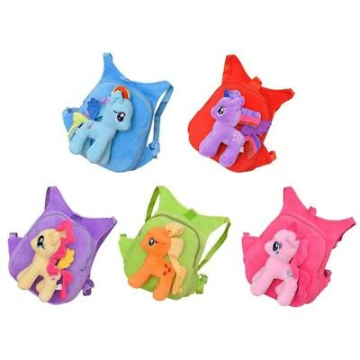 3D Little Pony Bag Plush Toy Soft Backpack Schoolbag Cartoon Kids Shoulder Bag