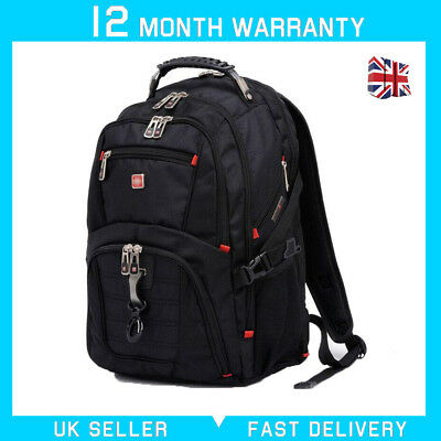 "15.6"" Waterproof Swiss Gear Travel Bags Macbook Laptop Hike Backpack School bag"