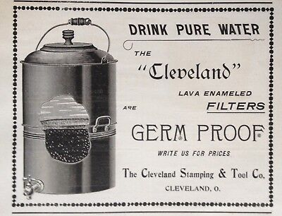 1897 Ad(1800-27)~The Cleveland Stamping & Tool Co. Enamel Drinking Water Filters