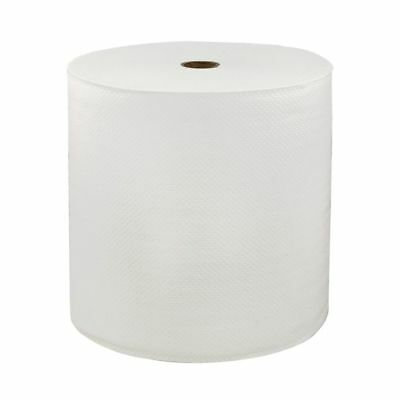 """LoCor 1-Ply Hard Roll Paper Towels, High-Capacity, 7"""", 1000 Sheets/Roll, 6-Pk"""