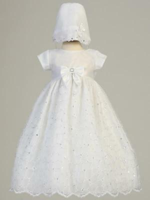 ALEXIS White Christening Gown Dress 0-3m 3-6m 6-12m 12-18