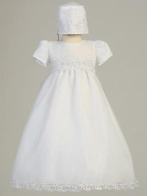 AUDREY White Christening Gown Dress 0-3m 3-6m 6-12m 12-18