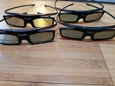 4x samsung 3d glasses ssg-5100gb lot
