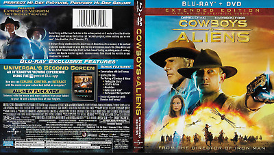 Cowboys & Aliens (Blu-ray/DVD, 2011, 2-Disc Extended Unrated)