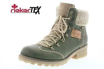 RIEKER Z0444 54 WOMEN Synthetic Leather Ankle Boot In Olive