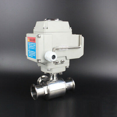 3/4-4'' 304 Clamp Sanitary Motorized Electric Actuated Ball Valve L-type, 3 Way