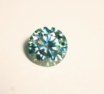 2.74ct Blue Moissanite Round - Beautiful Precision Cut Gem