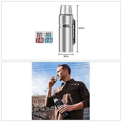 Thermos Stainless King 40 Ounce Beverage Bottle,Stainless Steel ORIGINAL Thermos
