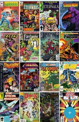 1 Box Lot of 50 comics Marvel,DC, Other Publishers NO duplication free shipping