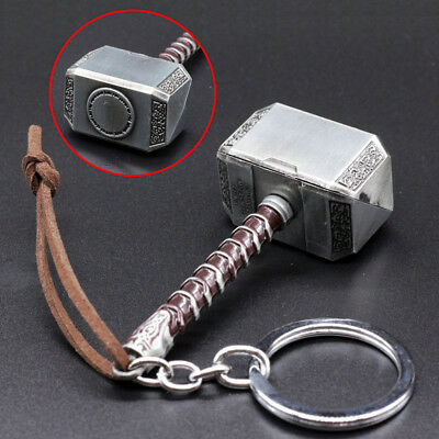 Thor hammer 3D Metal Keyfob Car Keyring Keychain Key Chain Ring Accessory Gift