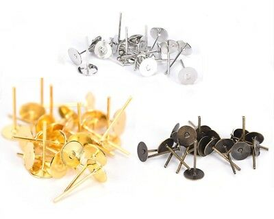 Jewellery Making & Design- Earring Post 5mm + Backings 100 Pairs (400pcs)