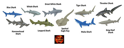 Sharks Toob Tube of 10 mini Shark Sealife Toy Figures by Safari Ltd 697104 NEW