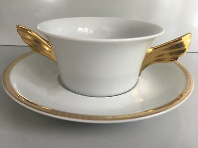 VERSACE Ikarus Medaillon Meandre d´Or CREAM SOUP CUP and SAUCER  Rosenthal