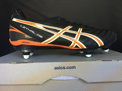 Asics Mens LETHAL DS 3 ST Soft Ground Leather Football Boots P008Y 9004 UK 7.5