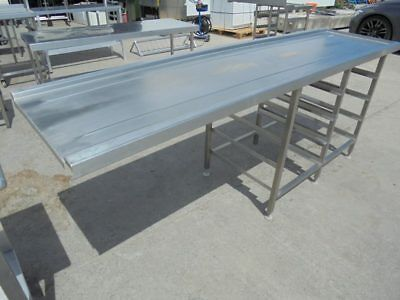 COMMERCIAL STAINLESS STEEL Dishwasher Loading Table - Stainless steel dishwasher table