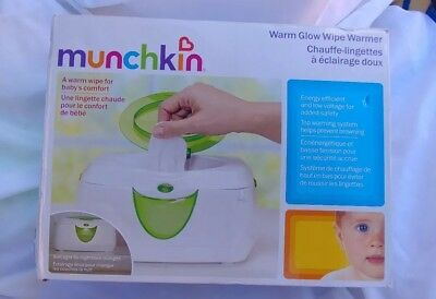 ORIGINAL Munchkin Warm Glow Baby Wipe Warmer with Flip Top !!