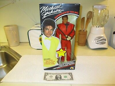 Vintage Michael Jackson Doll w/Thriller Outfit~NRFB Unopened