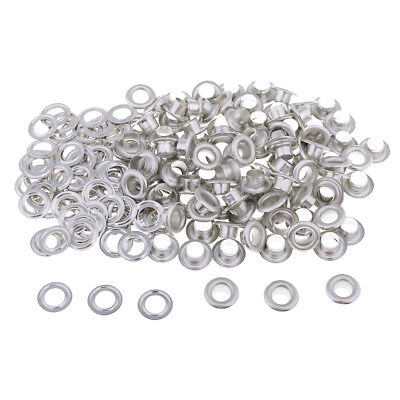 Baoblaze 100 Pairs Eyelet Buckles Grommets with Washers for DIY Hand Crafts