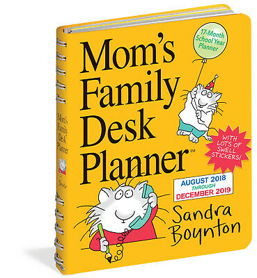 Mom's Family Desk Calendar 2019 Engagement Planner Diary Brand New 9781523503148