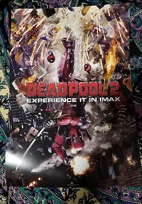 Deadpool 2 IMAX Exclusive Opening Night Movie Rare ,Promo Poster 13 × 19 IN-HAND